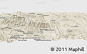"Shaded Relief Panoramic Map of the area around 31° 39' 38"" N, 51° 4' 30"" E"