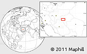 """Blank Location Map of the area around 31°39'38""""N,53°37'30""""E"""