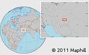 Gray Location Map of Mazra`eh-ye Taqavīyeh