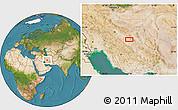 Satellite Location Map of Mazra`eh-ye Taqavīyeh