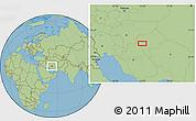 "Savanna Style Location Map of the area around 31°39'38""N,53°37'30""E"