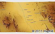 """Physical 3D Map of the area around 31°39'38""""N,55°19'30""""E"""