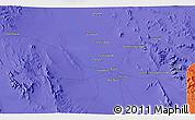 Political 3D Map of Chāh Khāvar
