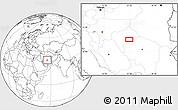 Blank Location Map of Chāh Khāvar