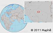 Gray Location Map of Chāh Khāvar