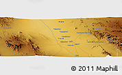 Physical Panoramic Map of Aḩmad