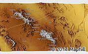 Physical 3D Map of Darreh Dohū