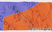 Political 3D Map of Āb Sang