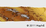 Physical Panoramic Map of Chāhū