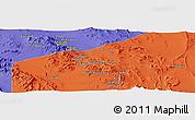 Political Panoramic Map of Ma`dan-e Kūshk