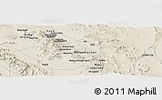 Shaded Relief Panoramic Map of Ma`dan-e Kūshk