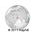 """Outline Map of the Area around 31° 39' 38"""" N, 57° 1' 29"""" E, rectangular outline"""