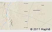 """Shaded Relief 3D Map of the area around 31°39'38""""N,57°52'30""""E"""