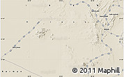 """Shaded Relief Map of the area around 31°39'38""""N,58°43'30""""E"""