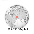"""Outline Map of the Area around 31° 39' 38"""" N, 58° 43' 30"""" E, rectangular outline"""