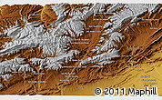 """Physical 3D Map of the area around 31°39'38""""N,5°52'30""""W"""