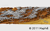"""Physical Panoramic Map of the area around 31°39'38""""N,5°52'30""""W"""
