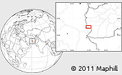Blank Location Map of Charkh Gavak-e Pā'īn