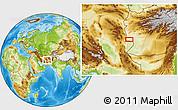 Physical Location Map of Charkh Gavak-e Pā'īn