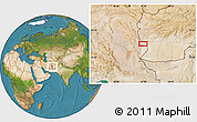 Satellite Location Map of Charkh Gavak-e Pā'īn