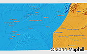 Political 3D Map of Kūraha-ye Arghandāb