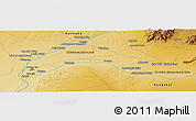Physical Panoramic Map of Shābānī
