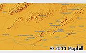 Political 3D Map of `Abd oş Şamad Kalay