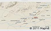 Shaded Relief 3D Map of `Abd oş Şamad Kalay