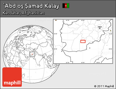 Blank Location Map of `Abd Oş Şamad Kalay