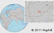 Gray Location Map of `Abd oş Şamad Kalay