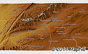 """Physical 3D Map of the area around 31°39'38""""N,67°13'29""""E"""