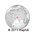 """Outline Map of the Area around 31° 39' 38"""" N, 68° 4' 29"""" E, rectangular outline"""