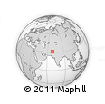 """Outline Map of the Area around 31° 39' 38"""" N, 68° 55' 30"""" E, rectangular outline"""