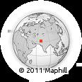 Outline Map of Laghri Wāl Burj, rectangular outline