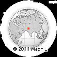 Outline Map of Kachikadhāni, rectangular outline