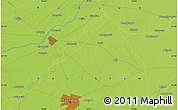 """Physical Map of the area around 31°39'38""""N,73°10'30""""E"""