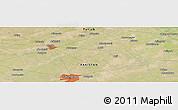Satellite Panoramic Map of Faisalābād