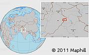 Gray Location Map of Amritsar