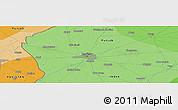 Political Panoramic Map of Amritsar