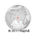 """Outline Map of the Area around 31° 39' 38"""" N, 75° 43' 29"""" E, rectangular outline"""
