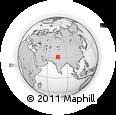 Outline Map of Beās, rectangular outline