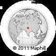 Outline Map of Leh, rectangular outline
