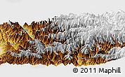 Physical Panoramic Map of Shoja