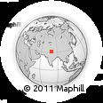 Outline Map of Shipki La, rectangular outline