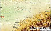Physical Map of Douar el Haj Brahim
