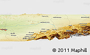 """Physical Panoramic Map of the area around 31°39'38""""N,7°34'30""""W"""