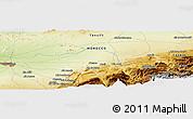Physical Panoramic Map of Douar el Haj Brahim