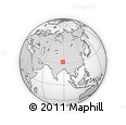 Outline Map of Tibet, rectangular outline