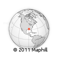 """Outline Map of the Area around 31° 39' 38"""" N, 89° 10' 30"""" W, rectangular outline"""
