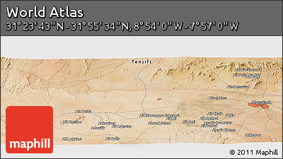 "Satellite Panoramic Map of the Area around 31°39'38""N,8°25'30""W"